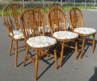 Set Six Wheelback Chairs & Refectory Dining Table